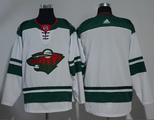 Adidas Wild Blank White Road Authentic Stitched NHL Jersey