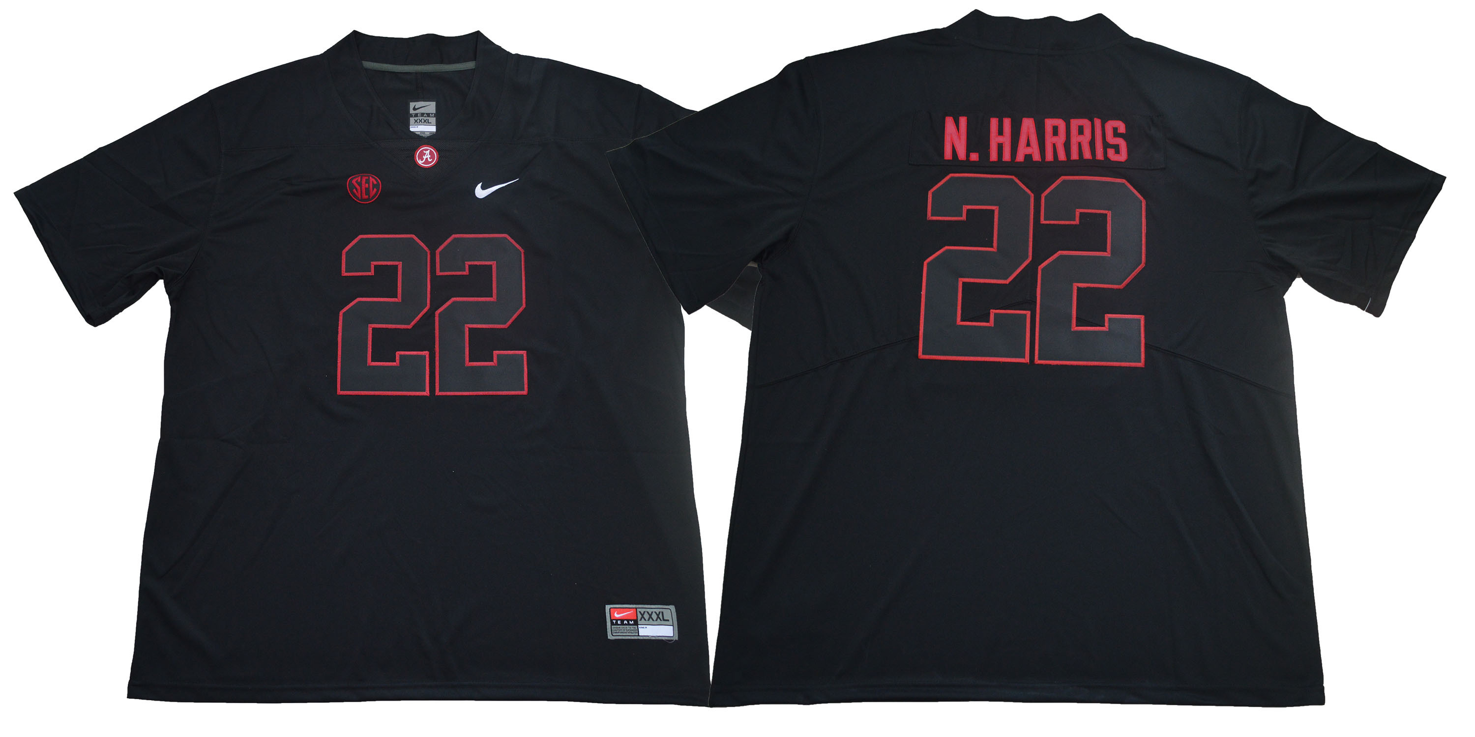 Alabama Crimson Tide 22 Najee Harris Black College Football Jersey