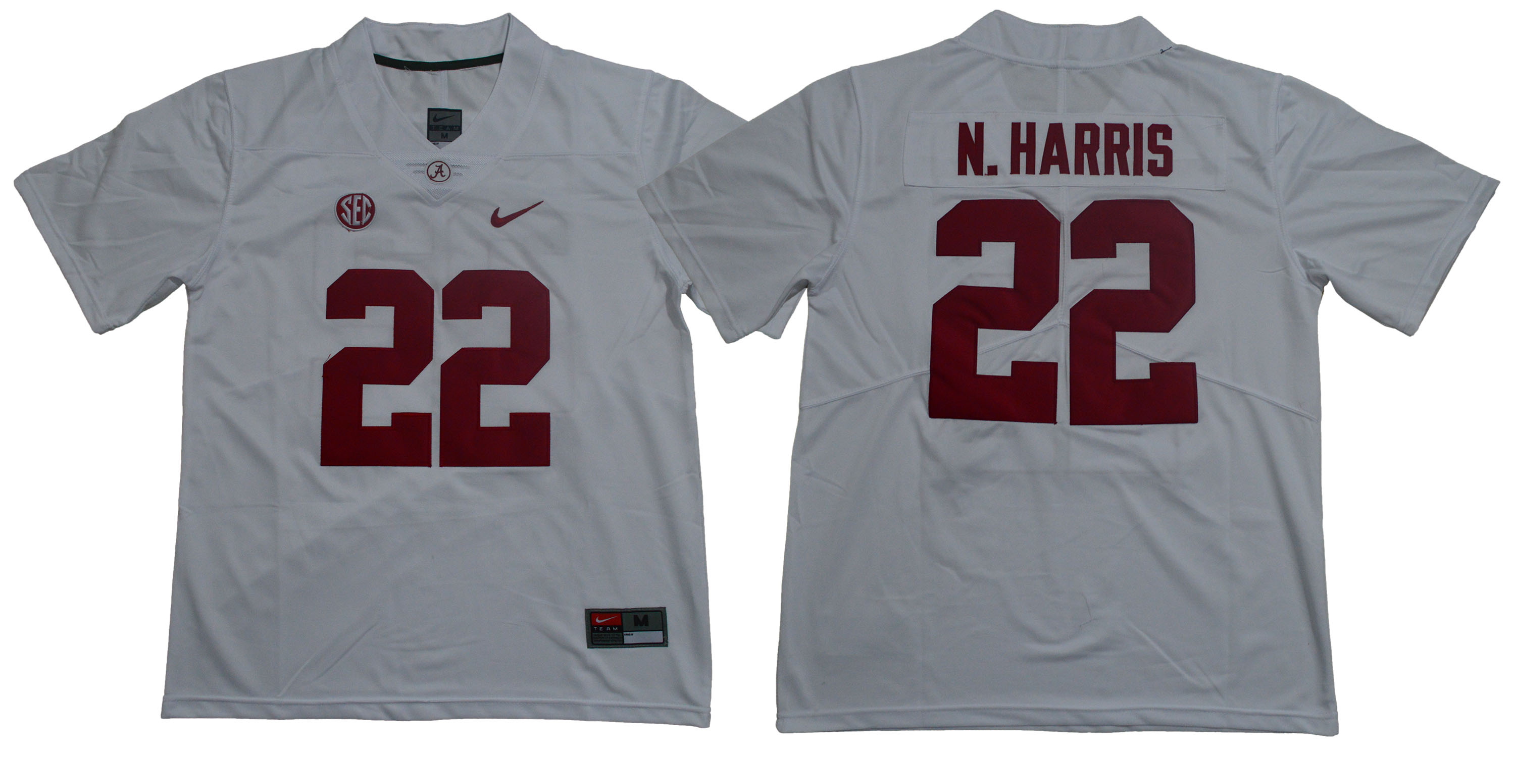 Alabama Crimson Tide 22 Najee Harris White College Football Jersey