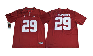 Alabama Crimson Tide 29 Minkah Fitzpatrick Red College Football Jersey