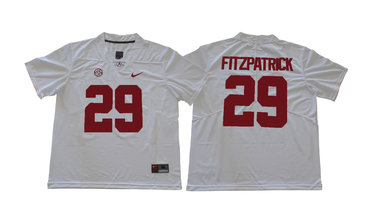 Alabama Crimson Tide 29 Minkah Fitzpatrick White College Football Jersey