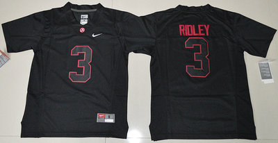 Alabama Crimson Tide 3 Calvin Ridley Black College Football Jersey