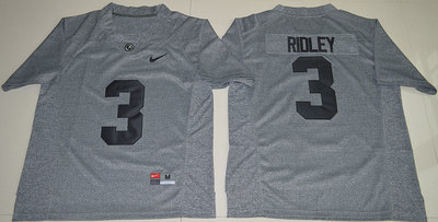 Alabama Crimson Tide 3 Calvin Ridley Grey College Football Jersey