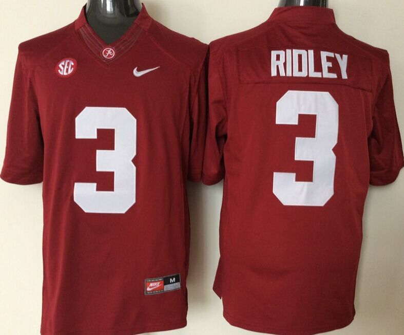 Alabama Crimson Tide 3 Calvin Ridley Red College Football Jersey