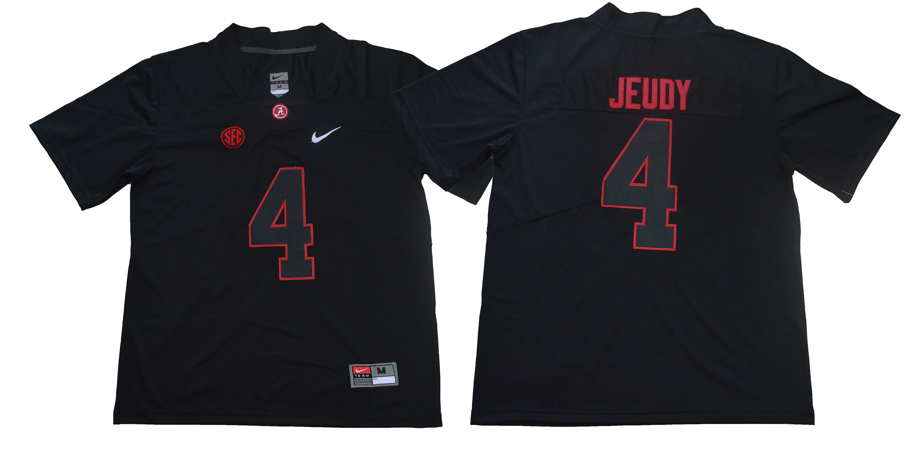 Alabama Crimson Tide 4 Jerry Jeudy Black Shadow Nike College Football Jersey