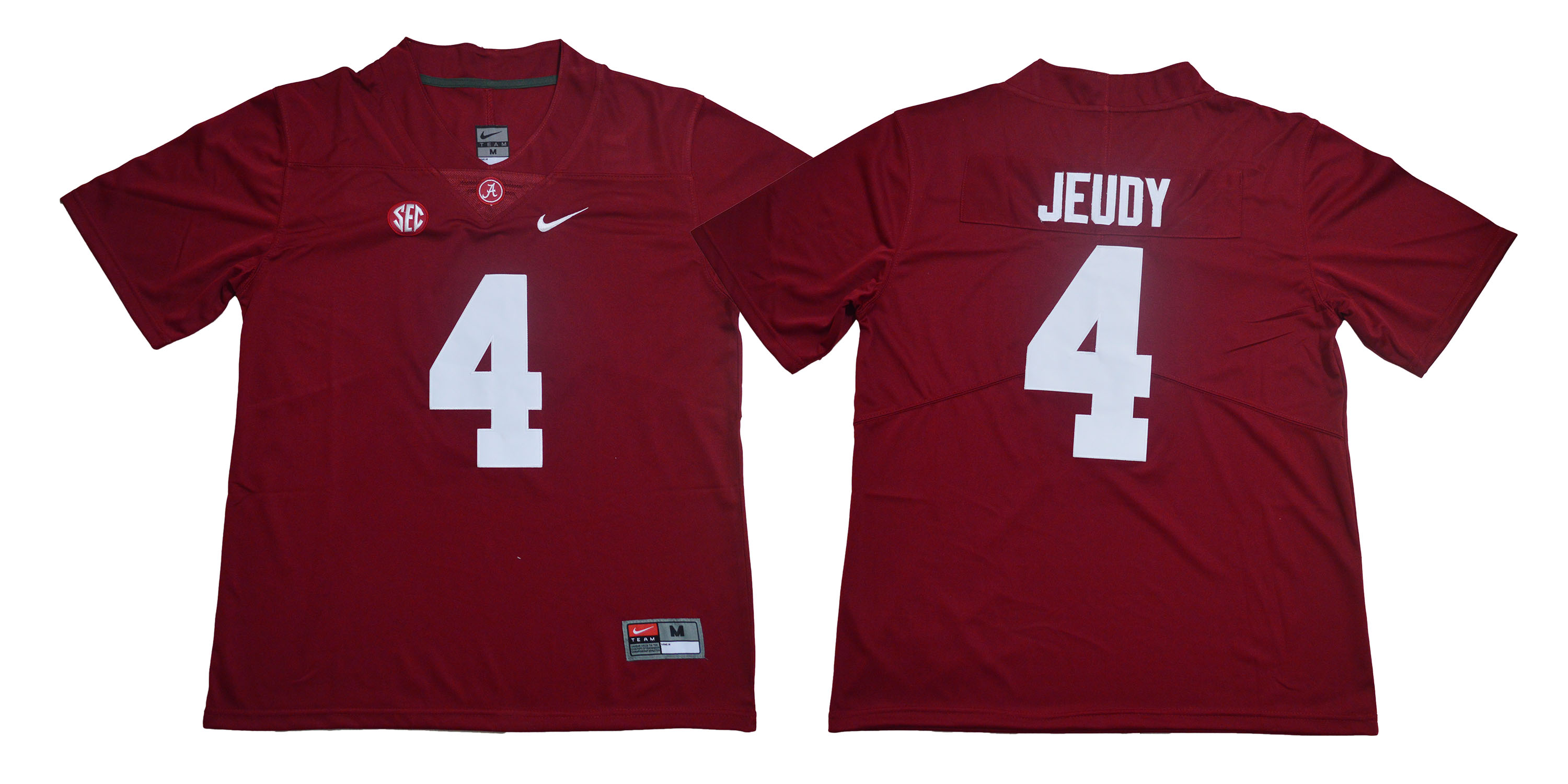 Alabama Crimson Tide 4 Jerry Jeudy Red Nike College Football Jersey