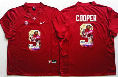 Alabama Crimson Tide 9 Amari Cooper Red Portrait Number College Jersey