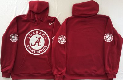 Alabama Crimson Tide Blank Red Men's Pullover Hoodie