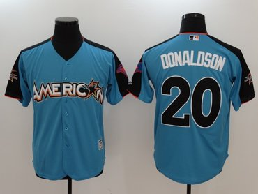American League 20 Josh Donaldson Blue 2017 MLB All Star Game Home Run Derby Player Jersey