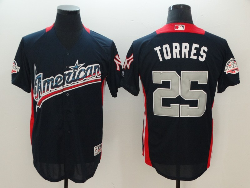 American League 25 Gleyber Torres Navy 2018 MLB All-Star Game Home Run Derby Jersey