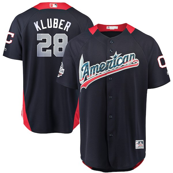 American League 28 Corey Kluber Navy 2018 MLB All-Star Game Home Run Derby Jersey