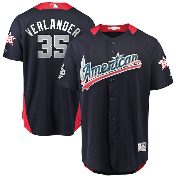 American League 35 Justin Verlander Navy 2018 MLB All-Star Game Home Run Derby Jersey