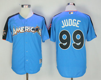 American League 99 Aaron Judge Blue 2017 MLB All Star Game Home Run Derby Jersey
