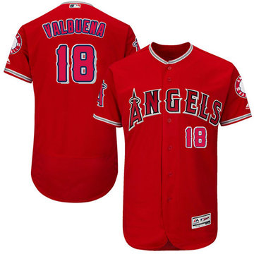 Angels of Anaheim #18 Luis Valbuena Red Flexbase Authentic Collection Stitched Baseball Jersey
