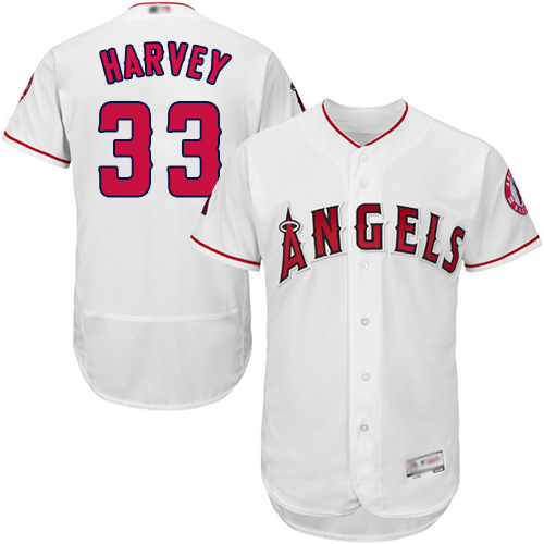 Angels of Anaheim #33 Matt Harvey White Flexbase Authentic Collection Stitched Baseball Jersey