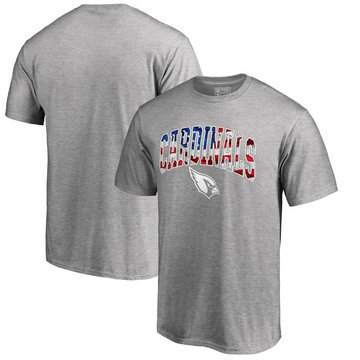 Arizona Cardinals Pro Line By Fanatics Branded Banner Wave T-Shirt Heathered Gray