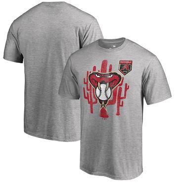 Arizona Diamondbacks Fanatics Branded 2018 MLB Spring Training Vintage T Shirt Heather Gray