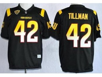 Arizona State Sun Devis (ASU) 42 Pat Tillman Black NCAA Jerseys