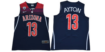 Arizona Wildcats 13 Deandre Ayton Navy College Basketball Jersey