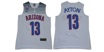 Arizona Wildcats 13 Deandre Ayton White College Basketball Jersey