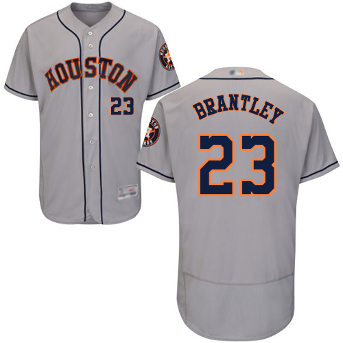 Astros #23 Michael Brantley Grey Flexbase Authentic Collection Stitched Baseball Jersey