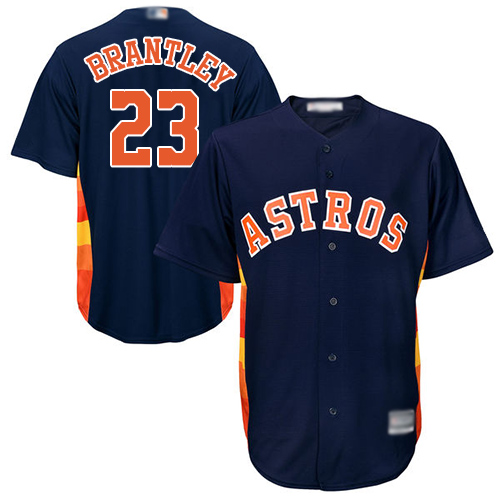 Astros #23 Michael Brantley Navy Blue New Cool Base Stitched Baseball Jersey