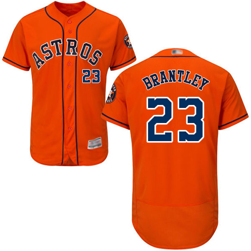 Astros #23 Michael Brantley Orange Flexbase Authentic Collection Stitched Baseball Jersey
