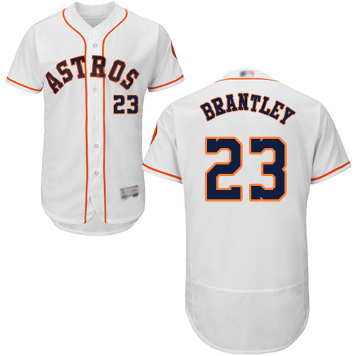Astros #23 Michael Brantley White Flexbase Authentic Collection Stitched Baseball Jersey