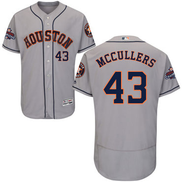 Astros #43 Lance McCullers Grey Flexbase Authentic Collection 2017 World Series Champions Stitched MLB Jersey