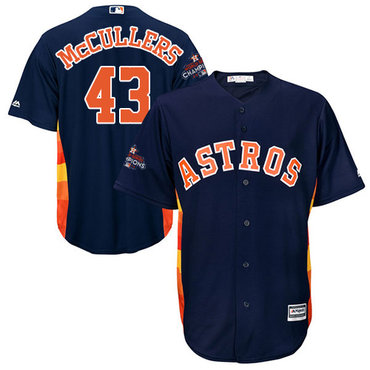 Astros #43 Lance McCullers Navy Blue Cool Base 2017 World Series Champions Stitched Youth MLB Jersey