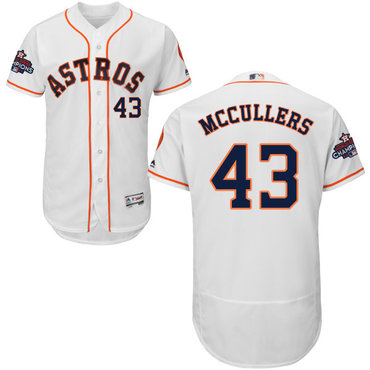 Astros #43 Lance McCullers White Flexbase Authentic Collection 2017 World Series Champions Stitched MLB Jersey