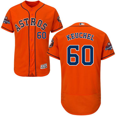 Astros #60 Dallas Keuchel Orange Flexbase Authentic Collection 2017 World Series Champi