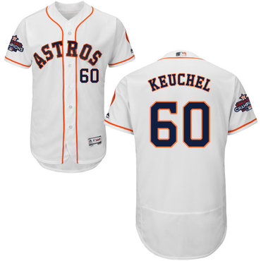 Astros #60 Dallas Keuchel White Flexbase Authentic Collection 2017 World Series Champions Stitched MLB Jersey