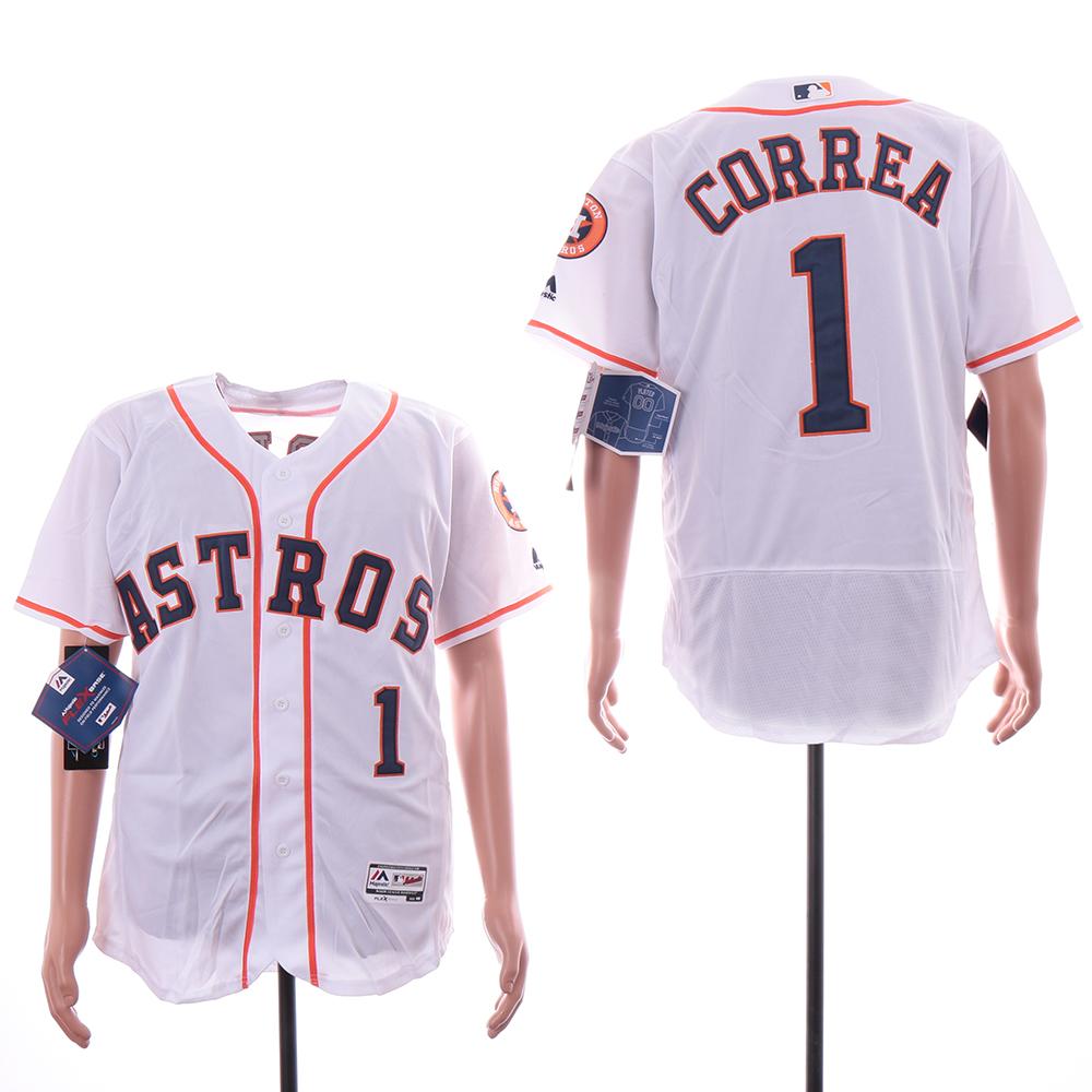 Astros 1 Carlos Correa White Flexbase Jersey