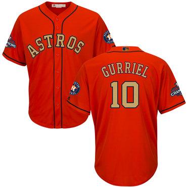 Astros 10 Yuli Gurriel Orange 2018 Gold Program Cool Base Jersey
