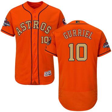 Astros 10 Yuli Gurriel Orange 2018 Gold Program Flexbase Jersey