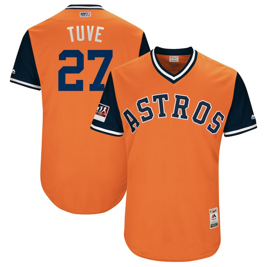 Astros 27 Jose Altuve Tuve Orange 2018 Players' Weekend Authentic Team Jersey