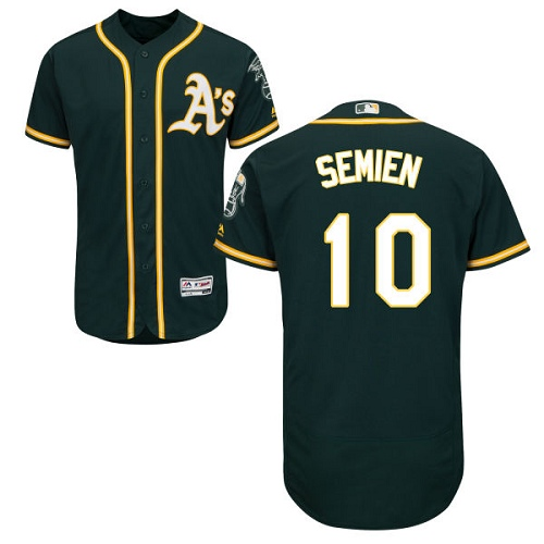 Athletics #10 Marcus Semien Green Flexbase Authentic Collection Stitched Baseball Jersey