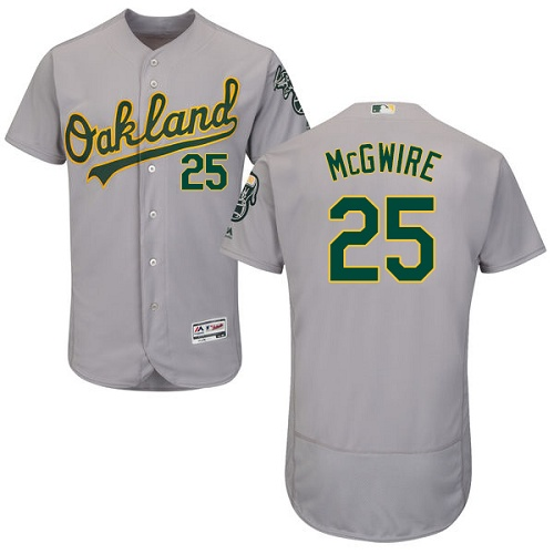 Athletics #25 Mark McGwire Grey Flexbase Authentic Collection Stitched MLB Jersey