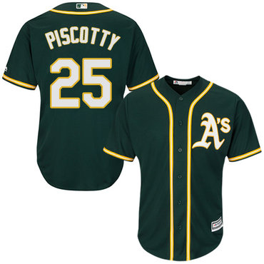 Athletics #25 Stephen Piscotty Green Cool Base Stitched Youth MLB Jersey