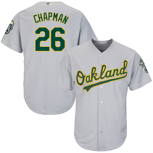 Athletics #26 Matt Chapman Grey New Cool Base Stitched Baseball Jersey
