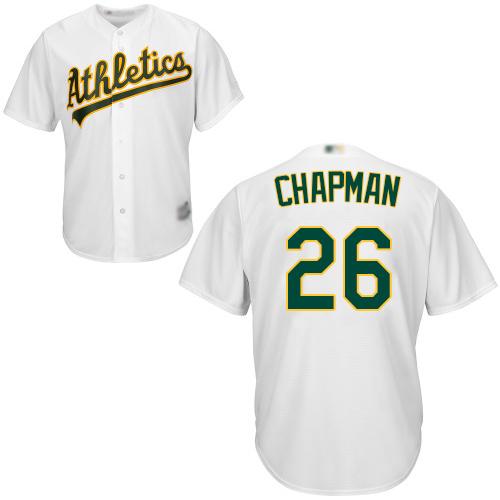 Athletics #26 Matt Chapman White Cool Base Stitched Youth Baseball Jersey
