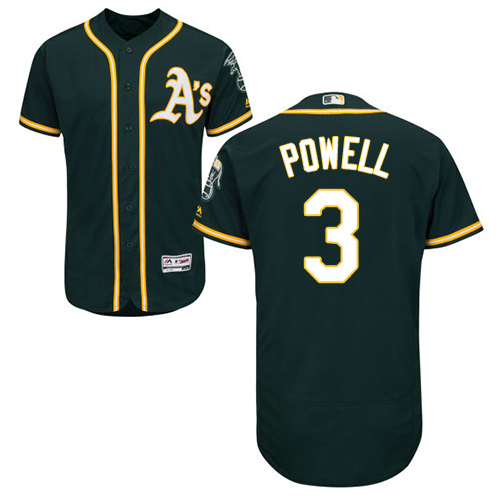 Athletics #3 Boog Powell Green Flexbase Authentic Collection Stitched Baseball Jersey