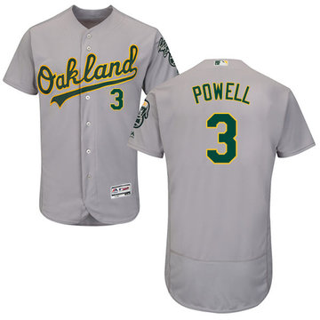 Athletics #3 Boog Powell Grey Flexbase Authentic Collection Stitched Baseball Jersey