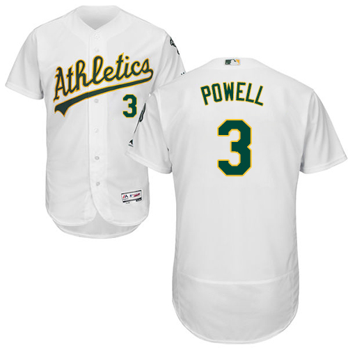 Athletics #3 Boog Powell White Flexbase Authentic Collection Stitched Baseball Jersey