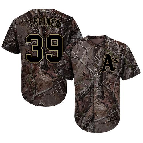 Athletics #39 Blake Treinen Camo Realtree Collection Cool Base Stitched Baseball Jersey