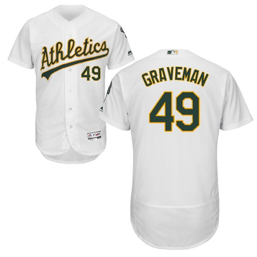 Athletics #49 Kendall Graveman White Flexbase Authentic Collection Stitched Baseball Jersey