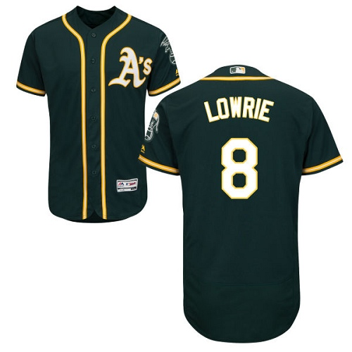 Athletics #8 Jed Lowrie Green Flexbase Authentic Collection Stitched Baseball JerseyAthletics #8 Jed Lowrie Green Flexbase Authentic Collection Stitched Baseball Jersey