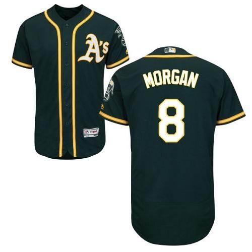 Athletics #8 Joe Morgan Green Flexbase Authentic Collection Stitched MLB Jersey