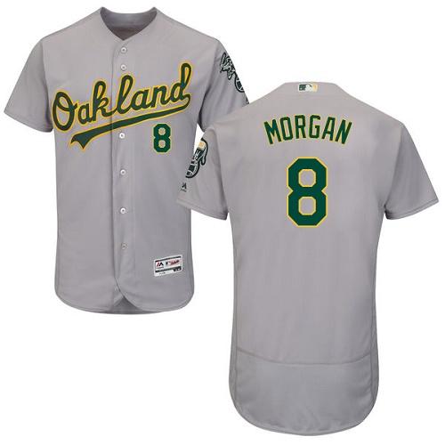 Athletics #8 Joe Morgan Grey Flexbase Authentic Collection Stitched MLB Jersey